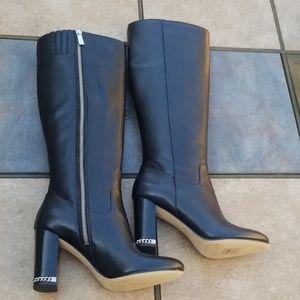 Michael Kors Walker Leather Boots